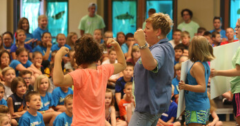 Photo: Vacation Bible School kids singing